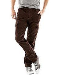 Pantalon cargo marron foncé