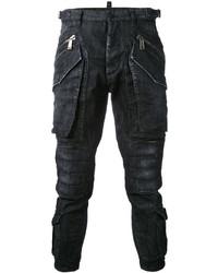 Pantalon cargo noir DSQUARED2