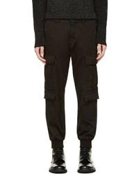 Pantalon cargo noir Neil Barrett
