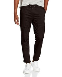 Pantalon cargo noir New Look