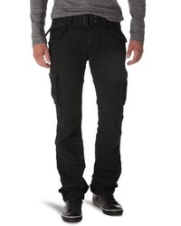 Pantalon cargo noir Schott NYC