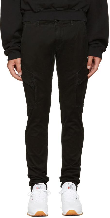 design professionnel prix bas prix de détail €276, Pantalon cargo noir Stone Island