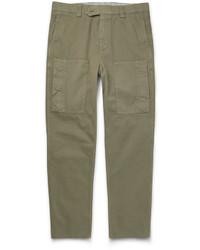 Pantalon cargo olive Brunello Cucinelli