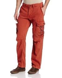 Pantalon cargo rouge