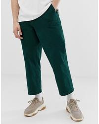 Pantalon cargo vert foncé ASOS WHITE
