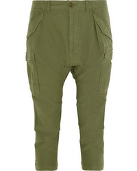 Pantalon cargo vert foncé