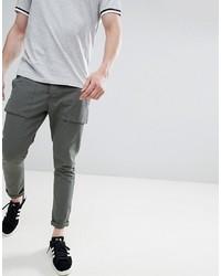 Pantalon cargo vert foncé Solid