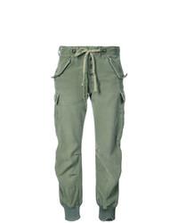 Pantalon cargo vert menthe Greg Lauren