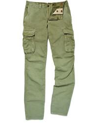 Pantalon cargo vert Incotex