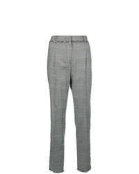 Pantalon carotte à carreaux gris MSGM