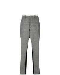 Pantalon carotte à carreaux gris N°21