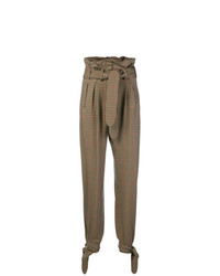 Pantalon carotte à carreaux marron ATTICO