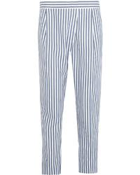 Acheter pantalon carotte à rayures verticales blanc et bleu femmes ... 965e5ee6d721
