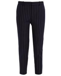 Pantalon carotte à rayures verticales bleu marine Ralph Lauren