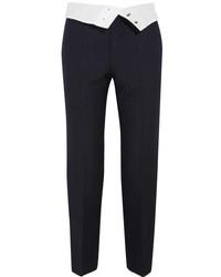 Pantalon carotte à rayures verticales noir Joseph