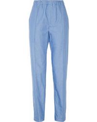 Pantalon carotte bleu clair