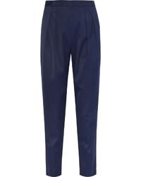 Pantalon carotte bleu marine