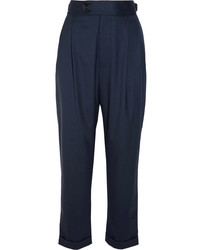 Pantalon carotte bleu marine Joseph