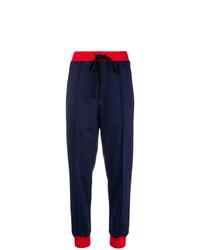 Pantalon carotte bleu marine Marni