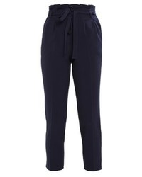 Pantalon carotte bleu marine Miss Selfridge