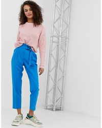 Pantalon carotte bleu Miss Selfridge