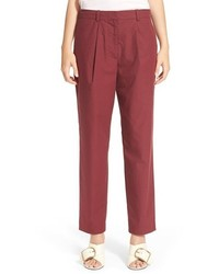 Pantalon carotte bordeaux