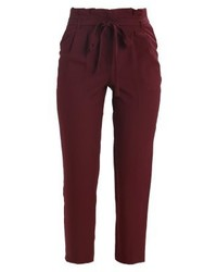 Pantalon carotte bordeaux Miss Selfridge