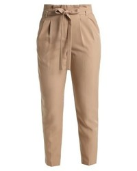 Pantalon carotte brun clair Miss Selfridge