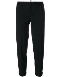 Pantalon carotte en laine noir Dsquared2