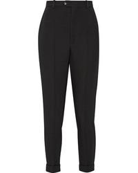 Pantalon carotte en laine noir Isabel Marant