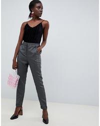 Pantalon carotte gris Vero Moda
