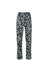 Pantalon carotte imprimé noir Isabel Marant Etoile
