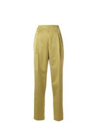 Pantalon carotte jaune