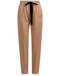 Pantalon carotte marron clair