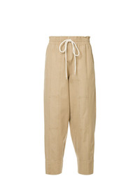 Pantalon carotte marron clair Bassike