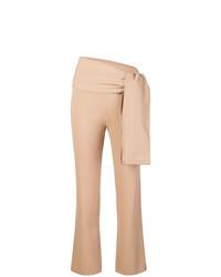 Pantalon carotte marron clair Romeo Gigli Vintage