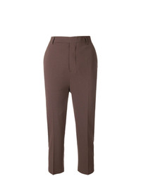 Pantalon carotte marron Rick Owens