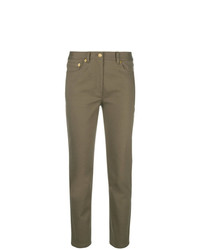Pantalon carotte marron Tory Burch