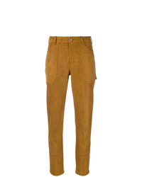 Pantalon carotte moutarde Saint Laurent