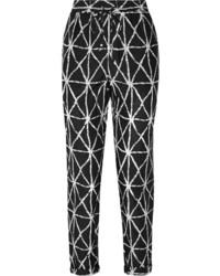 Pantalon carotte noir et blanc