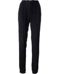 Pantalon carotte noir Lanvin