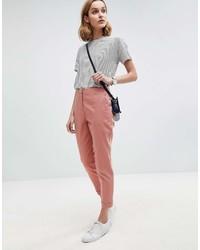 Pantalon carotte rose Asos