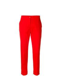 Pantalon carotte rouge