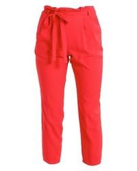 Pantalon carotte rouge Miss Selfridge