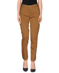 Pantalon carotte tabac
