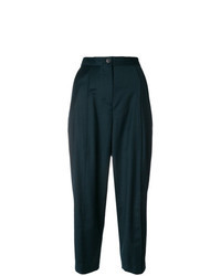 Pantalon carotte vert foncé