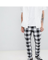 Pantalon chino à carreaux blanc et noir ASOS DESIGN