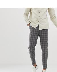 Pantalon chino à carreaux gris foncé ASOS DESIGN