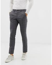 Pantalon chino à carreaux gris foncé Lindbergh