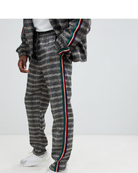 Pantalon chino à carreaux gris foncé The New County